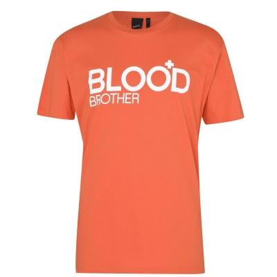Tricou Blood Brother Trademark portocaliu