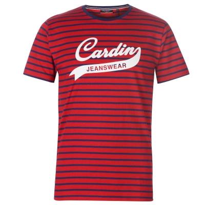 Tricou Blugi Pierre Cardin cu dungi Wear pentru Barbati rosu bleumarin