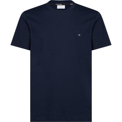 Tricou cu imprimeu Calvin Klein bumbac bleumarin