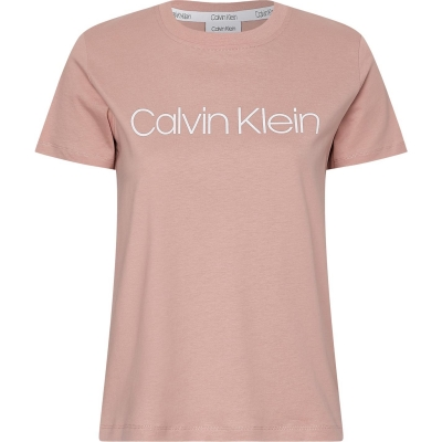 Tricou CALVIN KLEIN Core Logo Boxy muted roz
