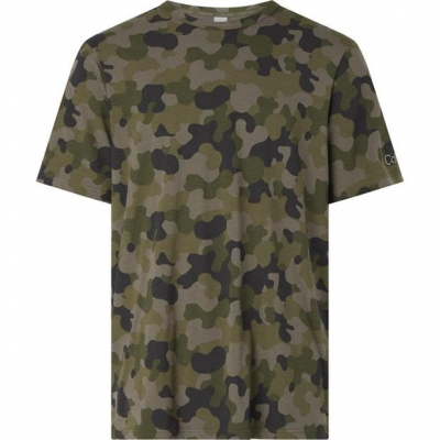 Tricou Calvin Klein Galvin camuflaj military verde