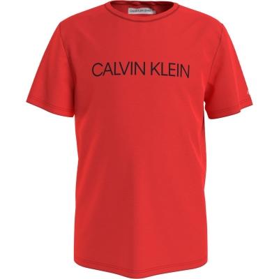 Tricou Calvin Klein Institution pentru baieti rosu xm8