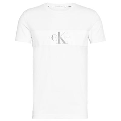 Tricou Calvin Klein Jeans Reflective Strip Mono bright alb