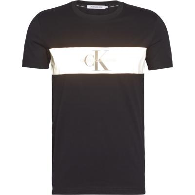 Tricou Calvin Klein Jeans Reflective Strip Mono ck negru