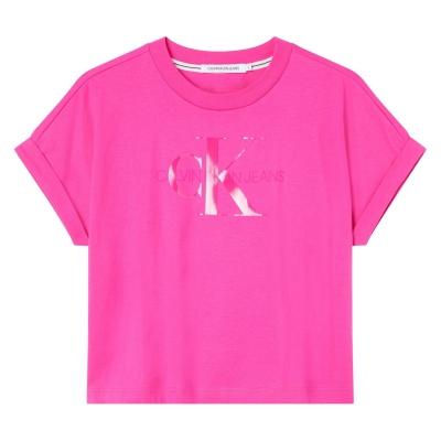 Tricou Calvin Klein Jeans Tonal Mono tpz party roz