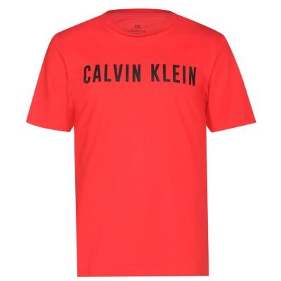Tricou Calvin Klein Performance Logo cu maneca scurta rosu negru