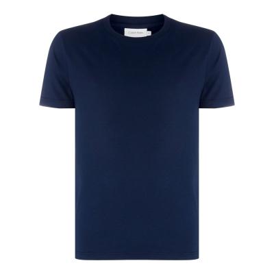 Tricou Calvin Klein Plain cu guler rotund bleumarin