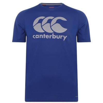 Tricou Canterbury Core VaporDri cu imprimeu mare pentru Barbati albastru roial