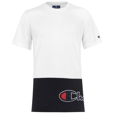 Tricou Champion Cut and Sew alb negru