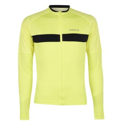 Tricou ciclism Pinnacle Race cu Maneca Lunga pentru Barbati galben