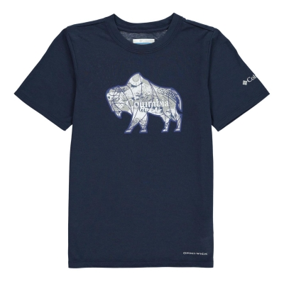 Tricou Columbia pentru baietei collegiate bleumarin