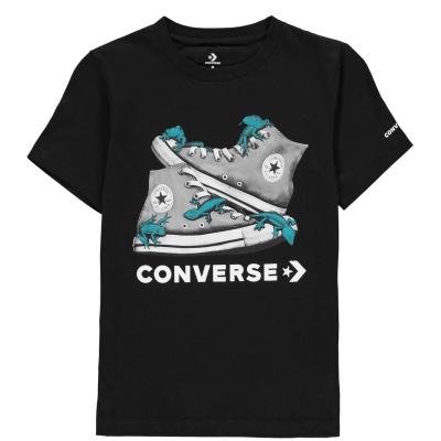 Tricou Converse Bio Chuck Taylor pentru baietei negru
