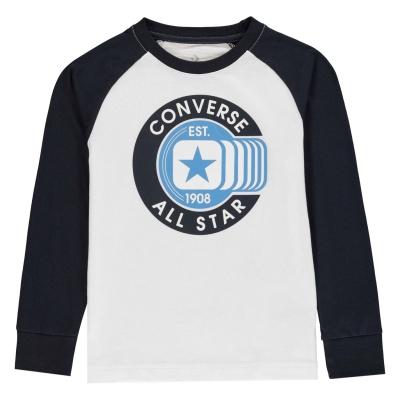 Tricou Converse Rag pentru baietei alb