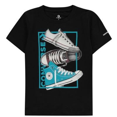 Tricou Converse React pentru baietei negru