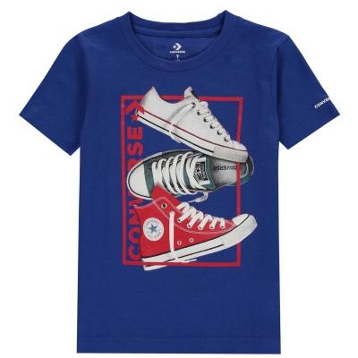 Tricou Converse React pentru baietei albastru