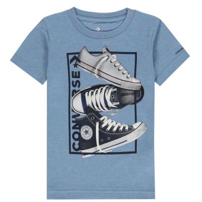 Tricou Converse React pentru baietei albastru deschis