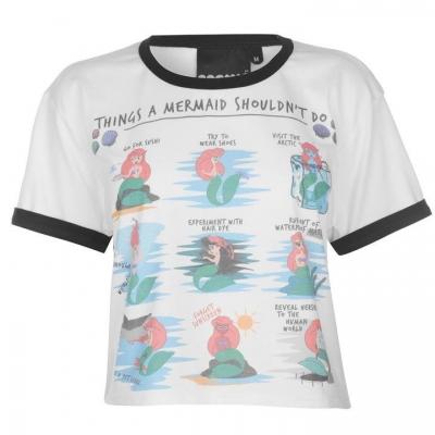 Tricou Cosmic Cropped pentru Femei multicolor mermaids