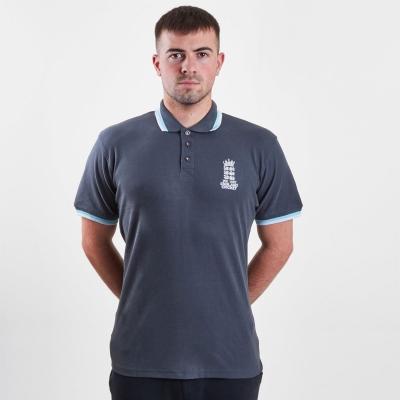 Tricouri Polo Anglia Cricket Cricket Pique gri carbune