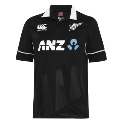 Tricou crichet Canterbury New Zealand negru Caps ODI Seniors