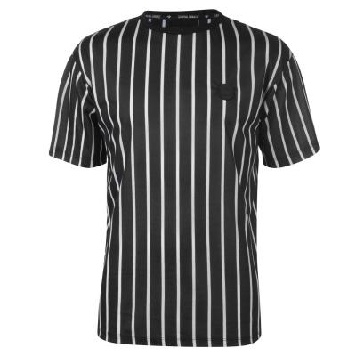 Tricou Criminal Damage Criminal Pinstripe