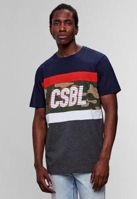 Tricou CSBL Blocked bleumarin-deschis Cayler and Sons gri