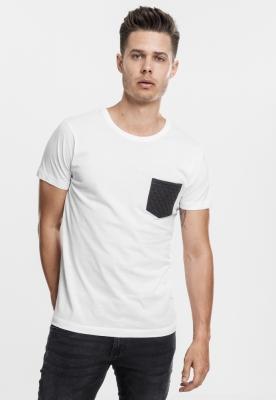 Tricou cu buzunar alb-negru Urban Classics