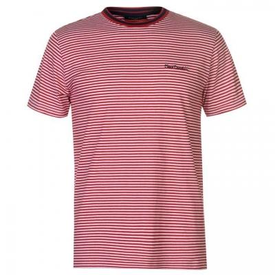 Tricou cu dungi Pierre Cardin pentru Barbati alb rosu