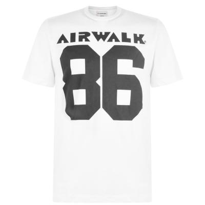 Tricou cu imprimeu Airwalk 86 alb