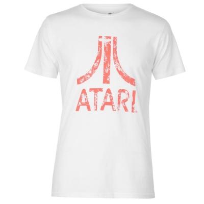 Tricou cu imprimeu Atari Distressed alb rosu