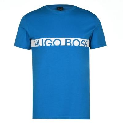 Tricou cu imprimeu Boss cu dungi albastru