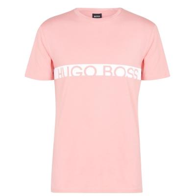 Tricou cu imprimeu Boss cu dungi roz