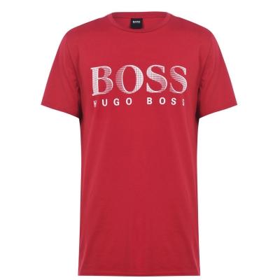 Tricou cu imprimeu Boss cu guler rotund Large rosu
