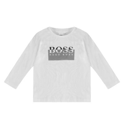 Tricou cu imprimeu Boss Hugo Boss LG alb 10b