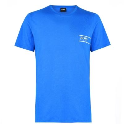 Tricou cu imprimeu Boss RN24 albastru