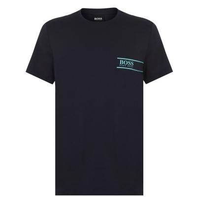 Tricou cu imprimeu Boss RN24 bleumarin menta