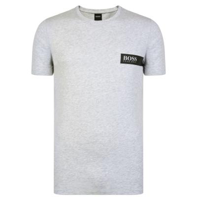 Tricou cu imprimeu Boss RN24 gri