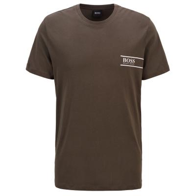 Tricou cu imprimeu Boss RN24 kaki