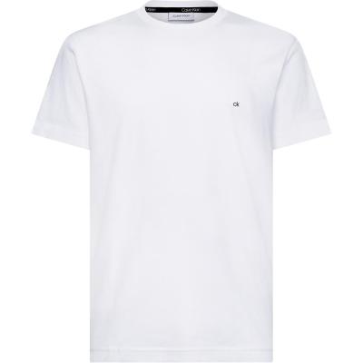 Tricou cu imprimeu Calvin Klein bumbac alb