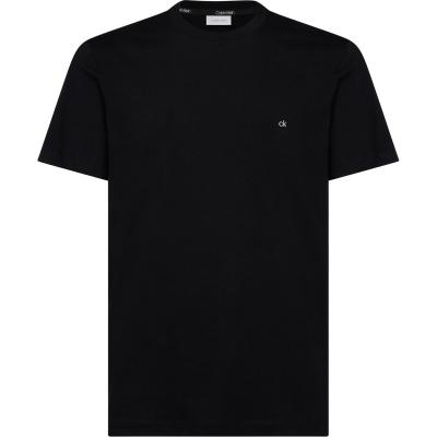 Tricou cu imprimeu Calvin Klein bumbac negru