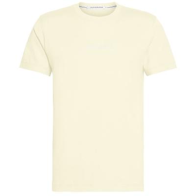Tricou cu imprimeu Calvin Klein Jeans Institutional Chest mimosa galben