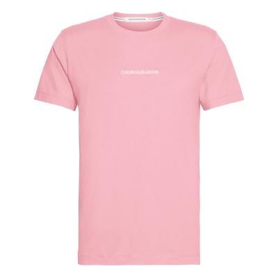 Tricou cu imprimeu Calvin Klein Jeans Institutional Chest portocaliu