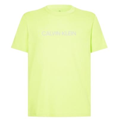 Tricou cu imprimeu Calvin Klein Performance Essential acid verde lime