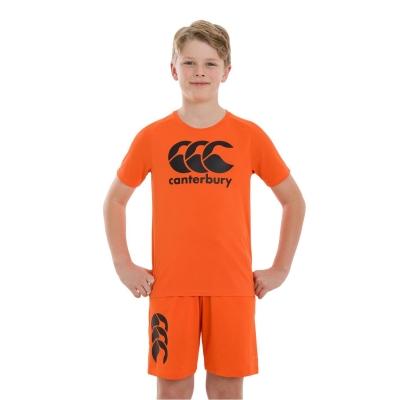 Tricou cu imprimeu Canterbury Large pentru copii portocaliu