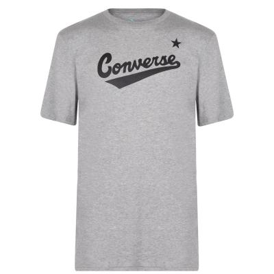 Tricou cu imprimeu Converse Nova gri deschis