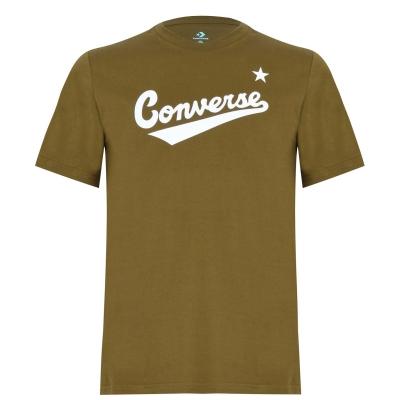 Tricou cu imprimeu Converse Nova inchis verde