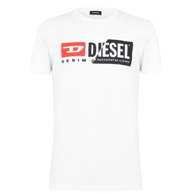 Tricou cu imprimeu Diesel 2 alb