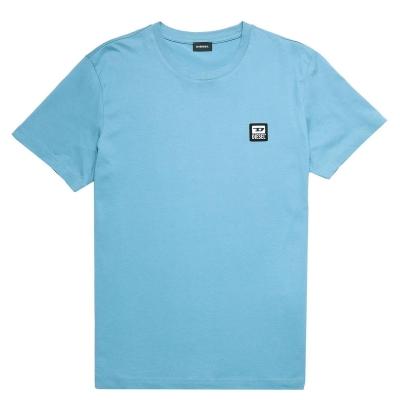 Tricou cu imprimeu Diesel albastru 89e