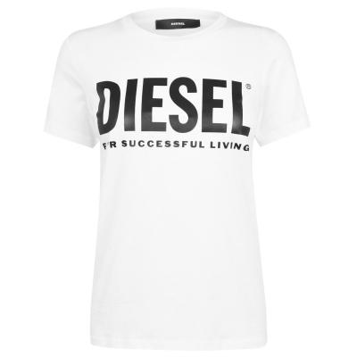 Tricou cu imprimeu Diesel Diesel alb
