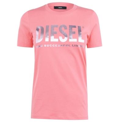 Tricou cu imprimeu Diesel Diesel roz 3ax