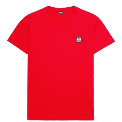 Tricou cu imprimeu Diesel rosu 42a
